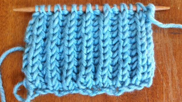 Example of the Brioche Stitch