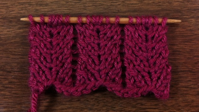 Example of the Chevron Lace Stitch