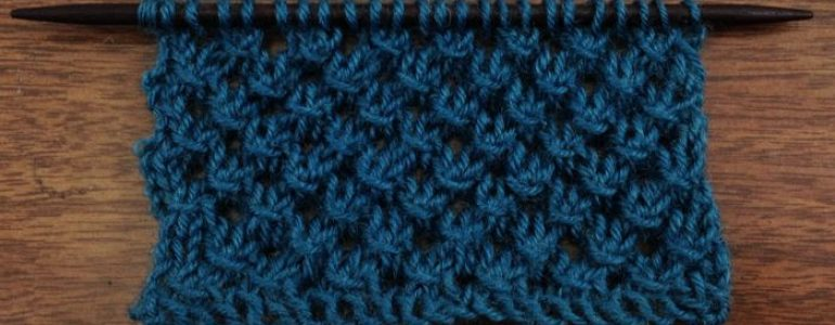 Openwork Lace Knitting Pattern : The Knotted Openwork Stitch :: Knitting Stitch #65