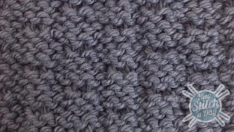 Example of the Double Alternate Andalou Stitch Wrong Side