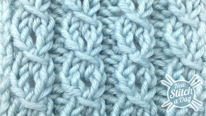 The Eyelet Mock Cable Ribbing Stitch :: Knitting Stitch #82