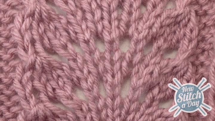 The Ostrich Plume Stitch :: Knitting Stitch #83