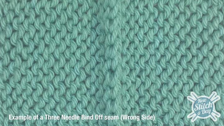 Three Needle Bind Off WS