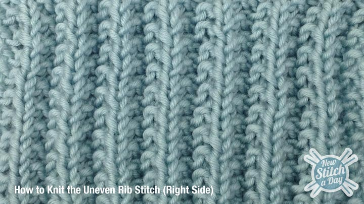 Uneven Rib Stitch Right Side