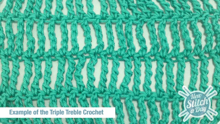 Triple Crochet Stitches The Triple Treble Crochet