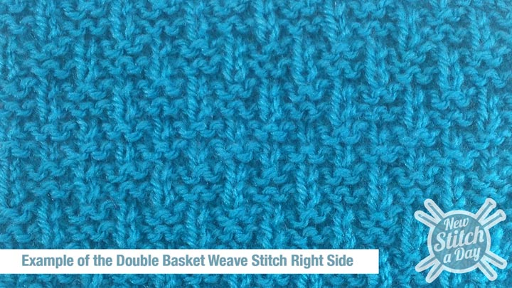 The Double Basket Weave Stitch :: Knitting Stitch #127