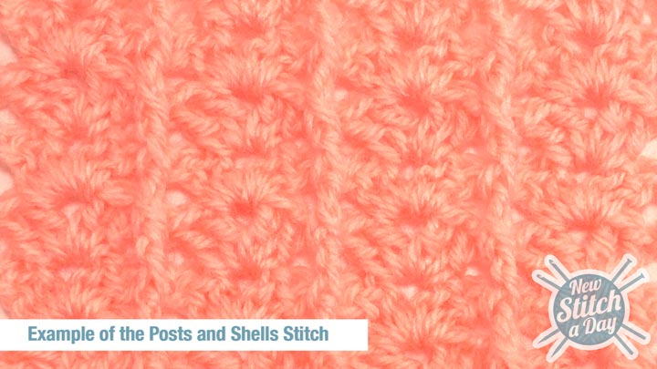Example of the Posts and Shells Stitch