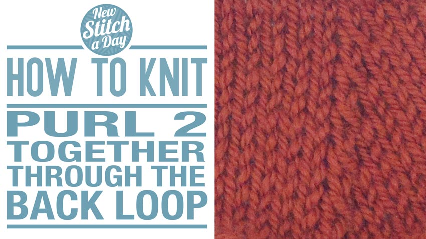 Knitting Stitches Purl Through Back Of Loop : How to Knit the Purl Two Together Through the Back Loop Decrease - P2TOG TBL ...