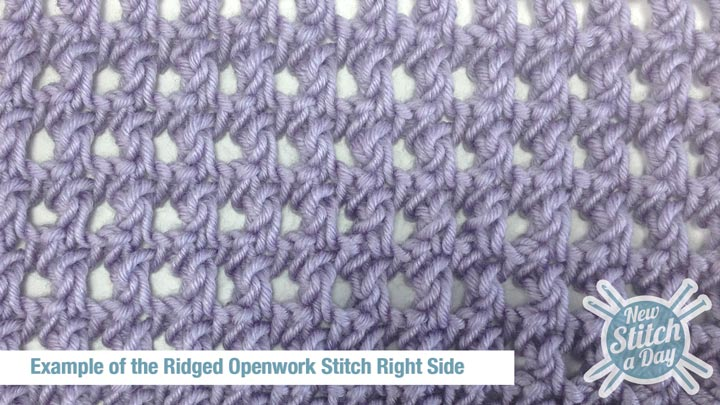 The Ridged Openwork Stitch :: Knitting Stitch #134 :: New Stitch A Day