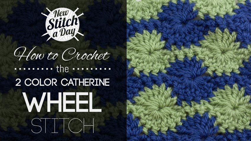 How to Knit the 2 Color Catherine Wheel Stitch
