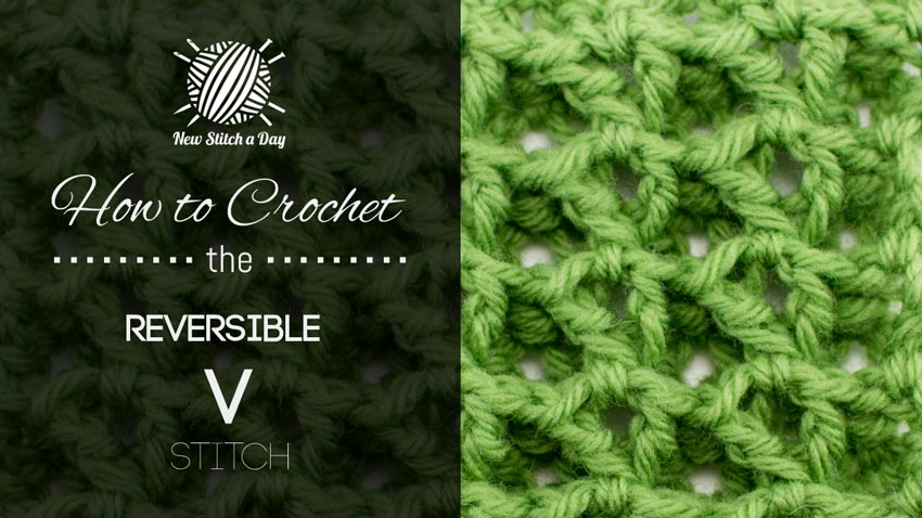 How to Crochet the Reversible V Stitch