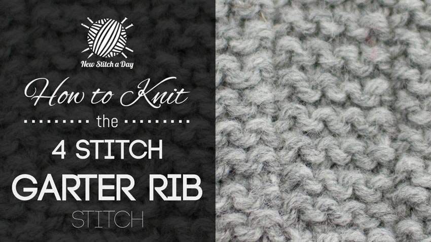 How to Knit the 4 Stitch Garter Rib Stitch