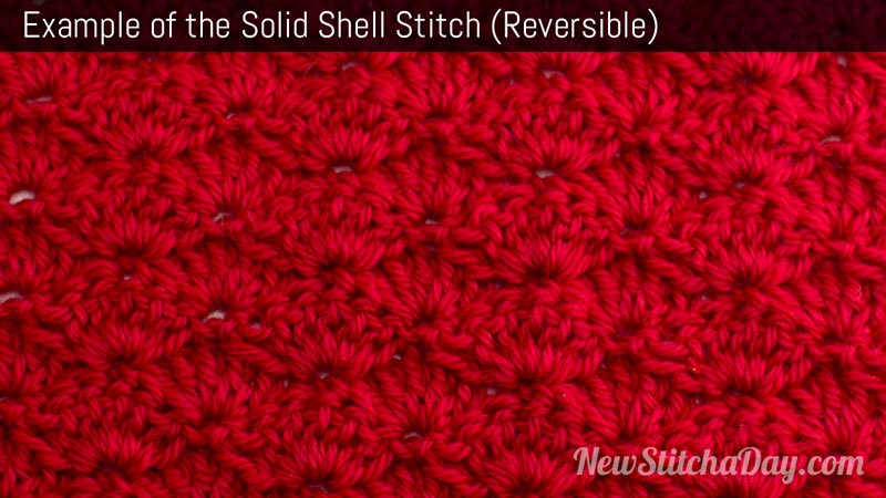 Example of the Solid Shell Stitch
