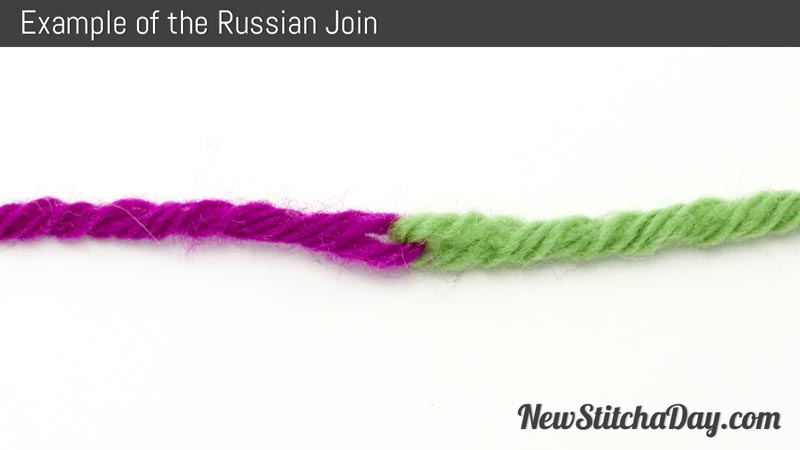 Knitting Russian Join Tutorial : How to knit the russian join new stitch a day