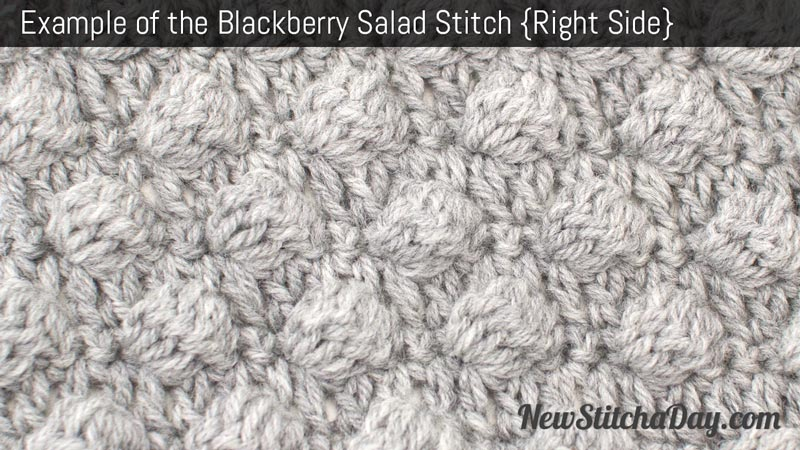 Crochet Stitches Right Side : The Blackberry Salad :: Crochet Stitch #166 :: New Stitch A Day