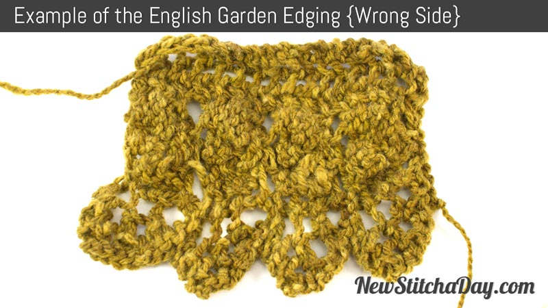 Example of the English Garden Edging Stitch. (Wrong Side)