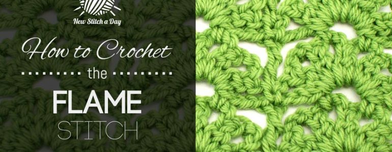 How to Crochet the Flame Stitch