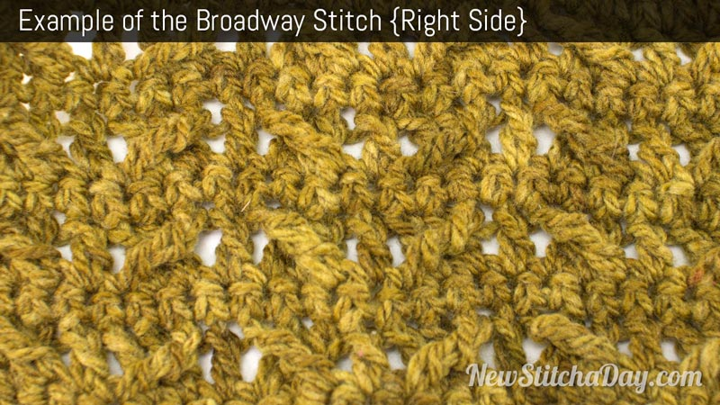 The Broadway Stitch :: Crochet Stitch #195 NEW STITCH A DAY