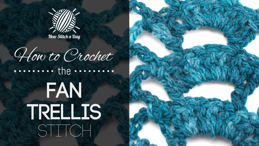 How to Crochet the Fan Trellis Stitch
