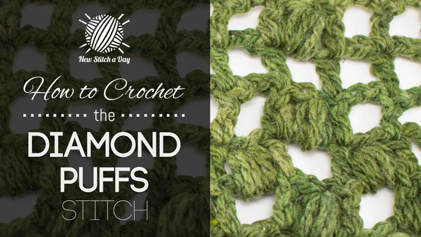 How to Crochet the Diamond Puffs Stitch